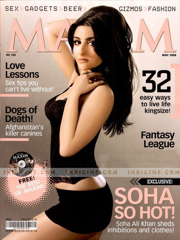 soha ali khan maxim photoshoot