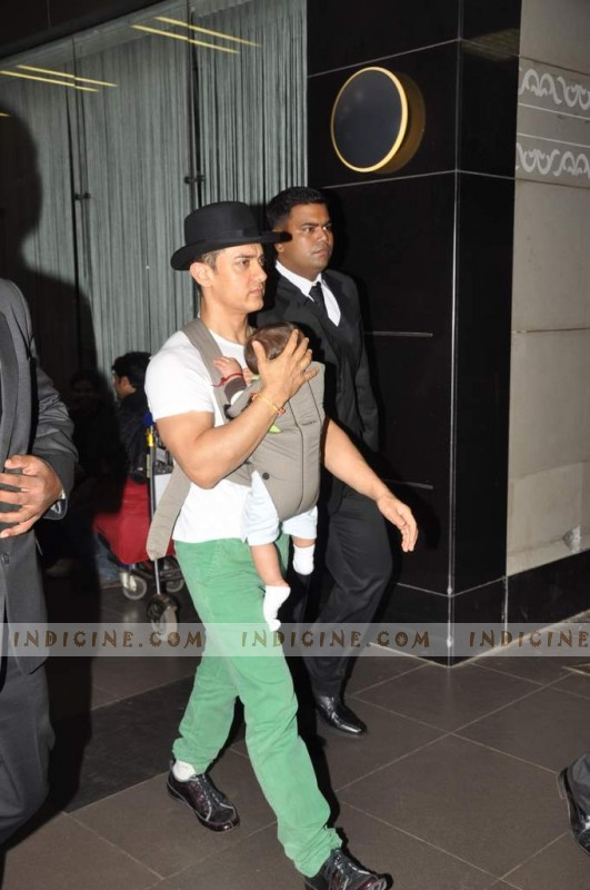 Aamir Khan with baby Azad
