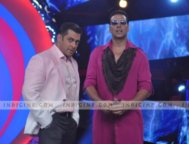 Akshay Kumar with Salman Khan