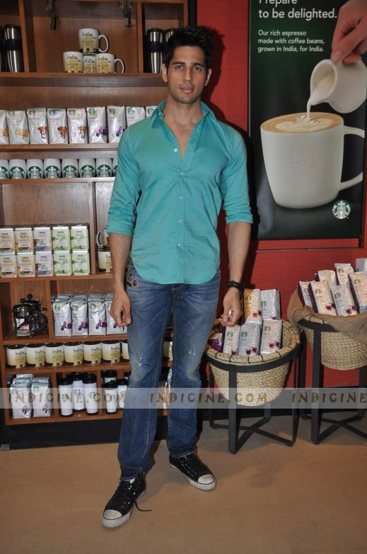 Siddharth Malhotra at Starbucks Coffee shop