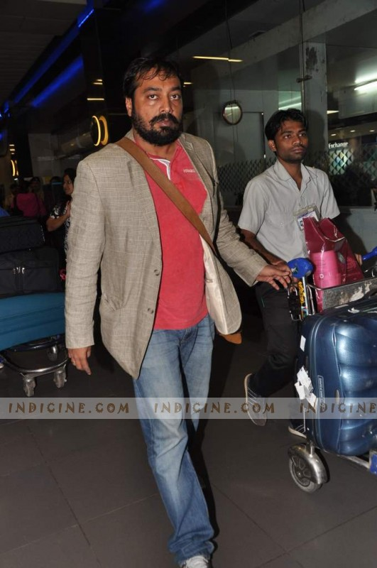 Anurag Kashyap at the airport