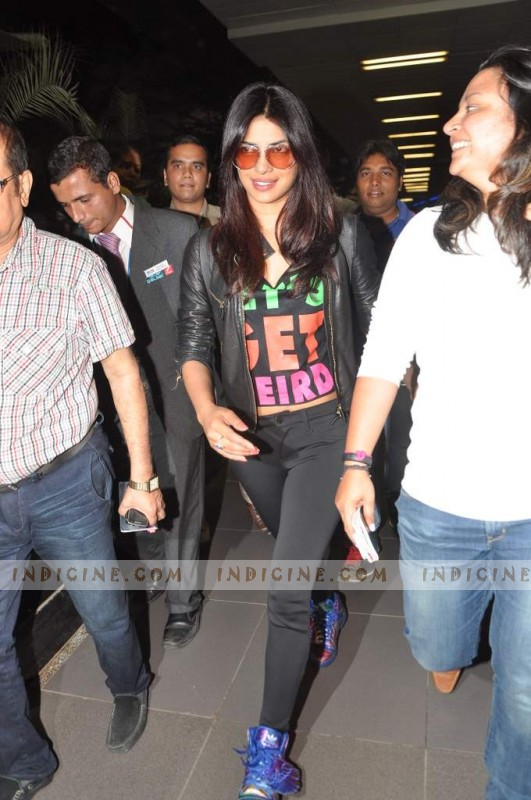Priyanka at the airport
