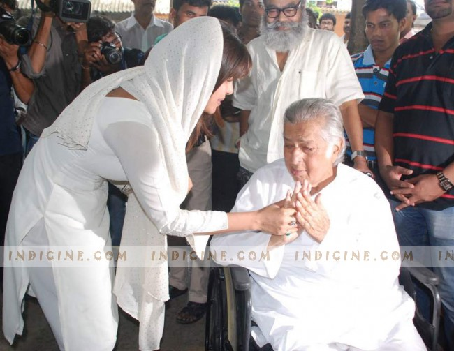 Priyanka Chopra with Shashi Kapoor