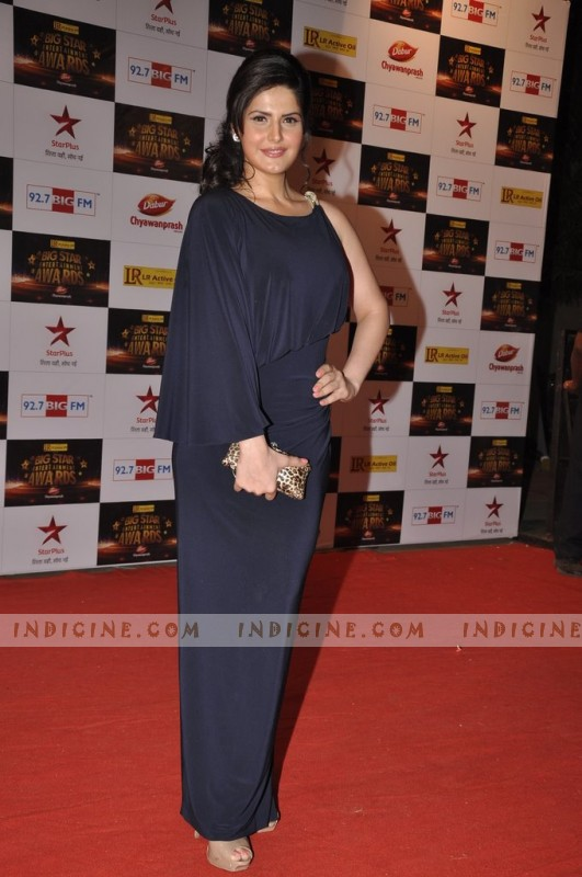 Zarine Khan at Big Star Awards red carpet