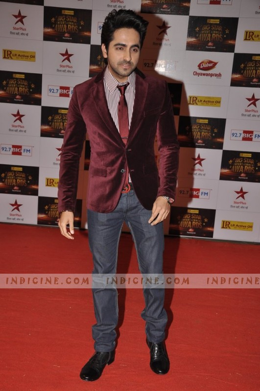 Ayushman Khurana at Big Star Awards red carpet