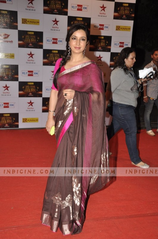 Tisca Chopra at Big Star Awards red carpet