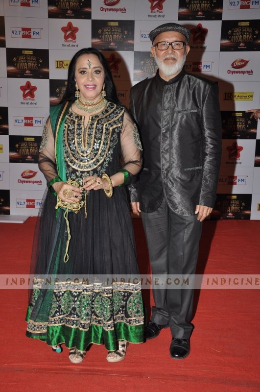 Ila Arun with husband Arun Bajpai