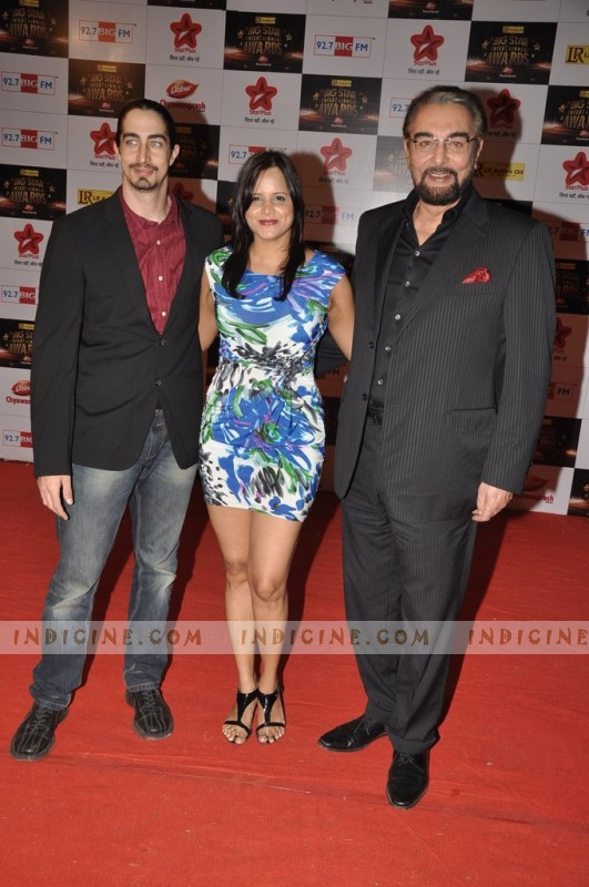 Kabir Bedi at Big Star Awards red carpet