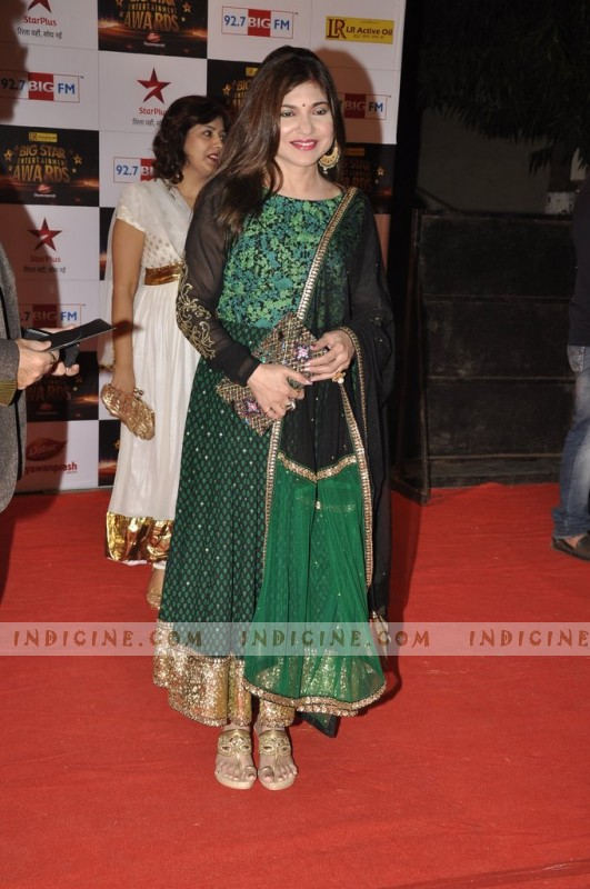 Alka Yagnik at Big Star Awards red carpet