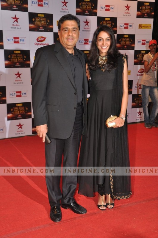Ronnie Screwvala with wife