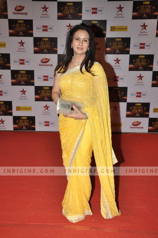 Poonam Dhillon at Big Star Awards red carpet