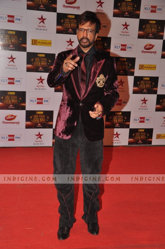 Javed Jaffrey at Big Star Awards red carpet