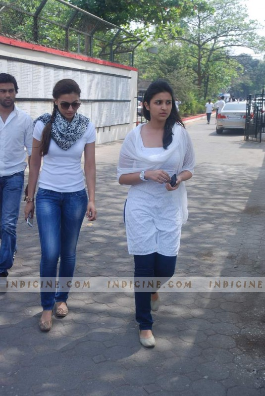 Parineeti Chopra at Mona Kapoor's funeral