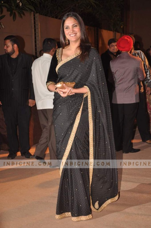 Lara Dutta at Dheeraj and Honey Deshmukh wedding reception