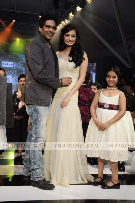 Dia Mirza walks for Rocky India Kids Fashion Show