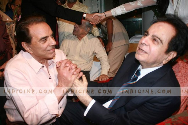 Dharmendra at Dilip Kumar's birthday party