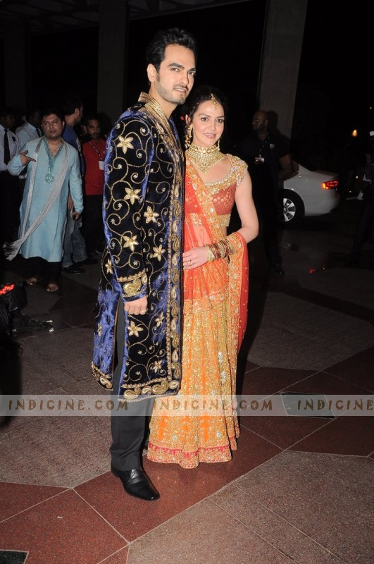 Bharat Takhtani, Esha Deol at their Sangeet ceremony