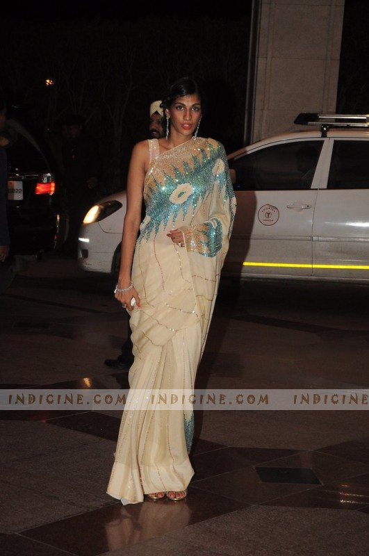 Anushka Manchandani at Esha Deol's sangeet ceremony