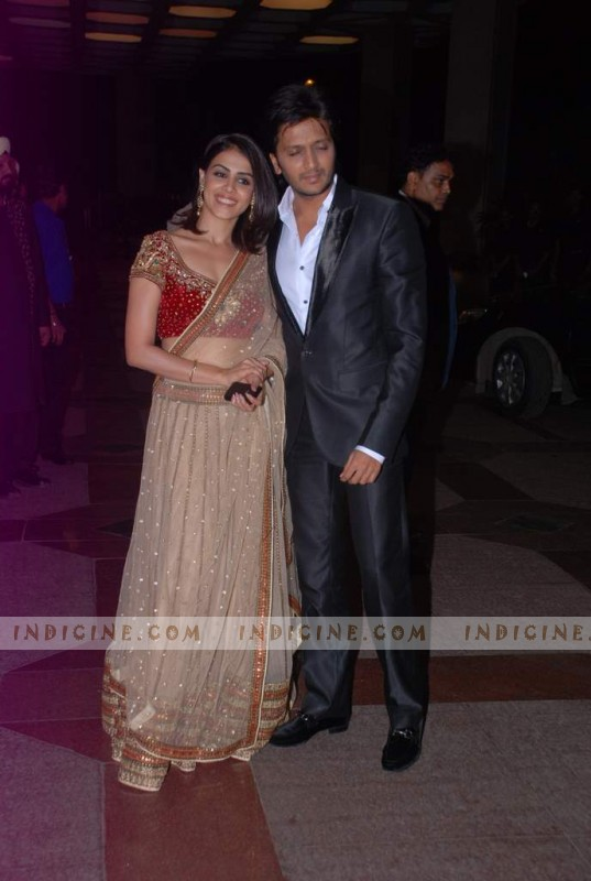 Genelia D'Souza, Ritesh Deshmukh at Esha Deol's sangeet ceremony