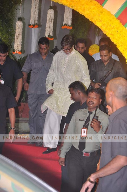 Amitabh Bachchan at Esha Deol's Wedding