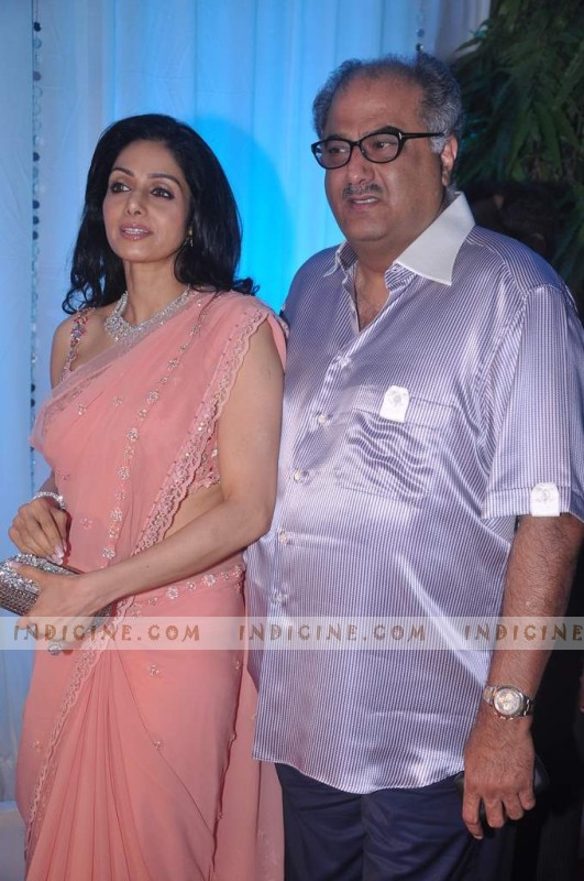 Boney Kapoor with wife Sridevi