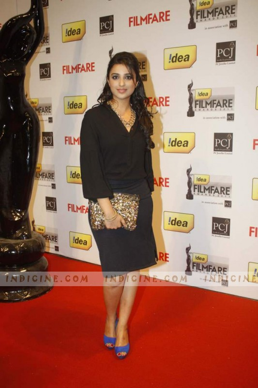 Parineeti Chopra at 57th Idea Filmfare Awards 2012 Red Carpet