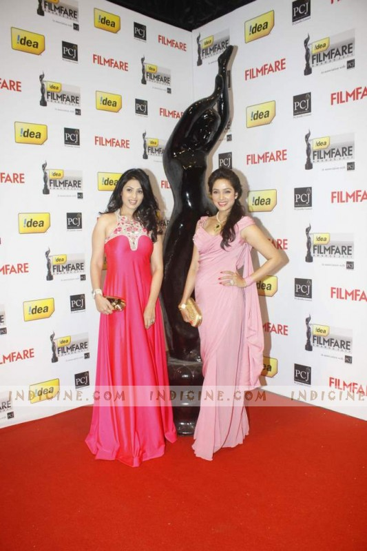 Anjana Sukhani, Vidya Malvade at 57th Idea Filmfare Awards 2012 Red Carpet