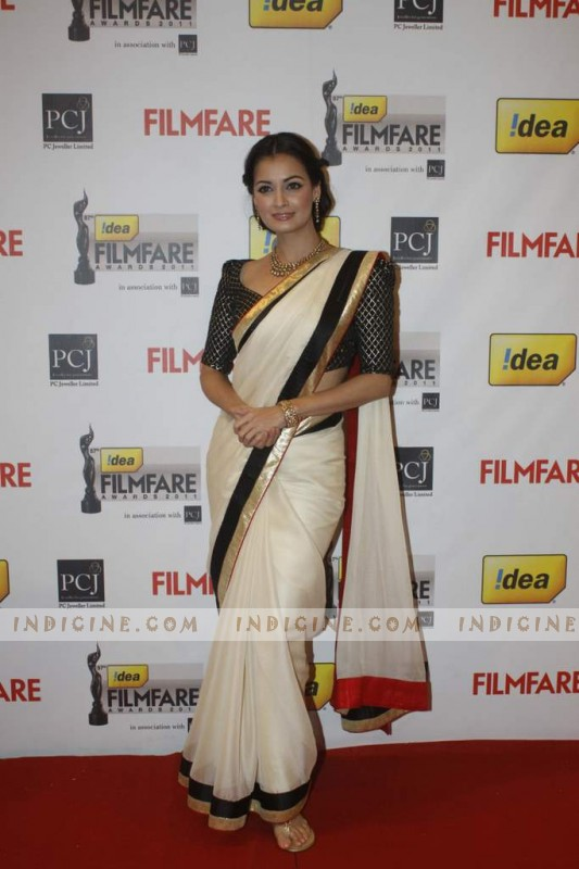 Dia Mirza at 57th Idea Filmfare Awards 2012 Red Carpet