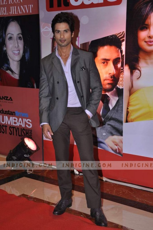 Shahid Kapoor at Hindustan Times Mumbai's Most Stylish awards