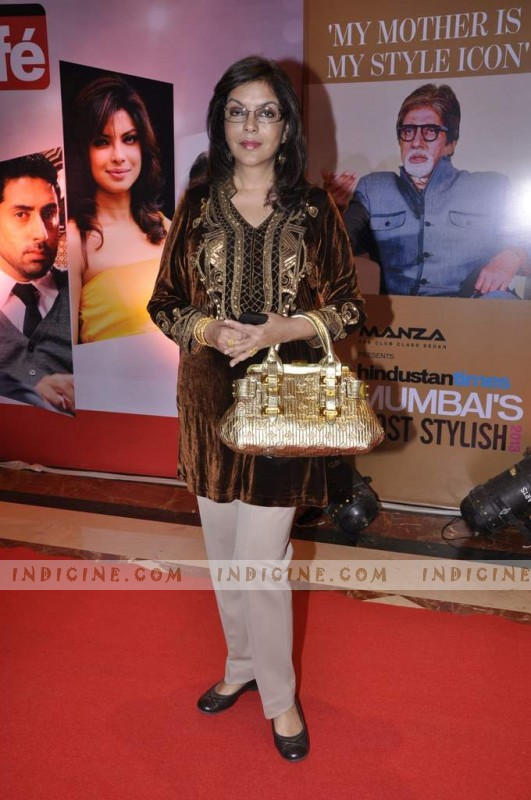 Zeenat Aman at Hindustan Times Mumbai's Most Stylish awards