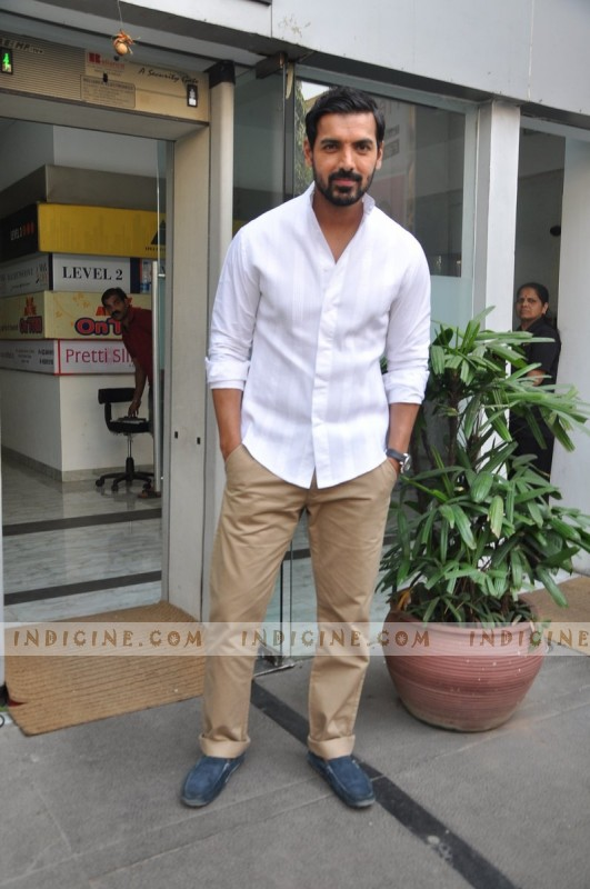 John Abraham at I Me Aur Main media meet