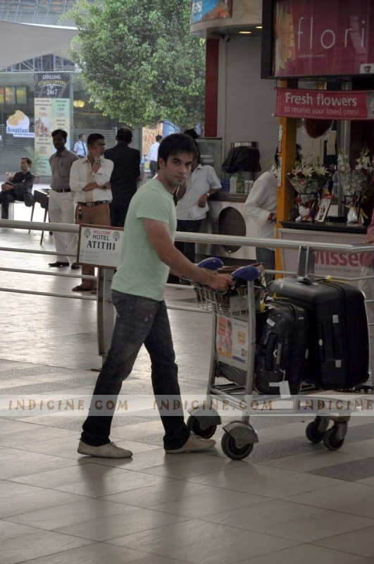 Punit Malhotra at the airport