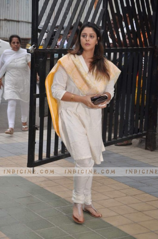 Nagma at Jiah Khan's prayer meet