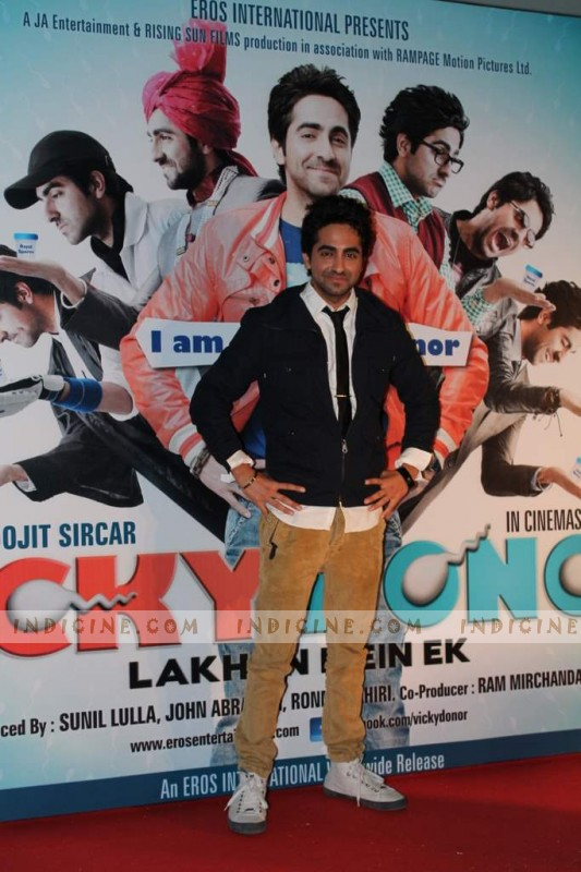 Ayushman Khurana at the first look at Vicky Donor film