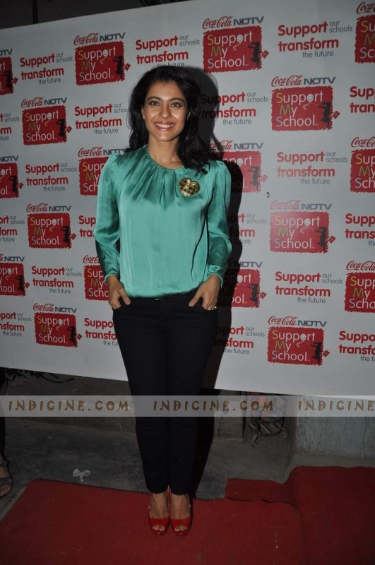 Kajol at Support My School event