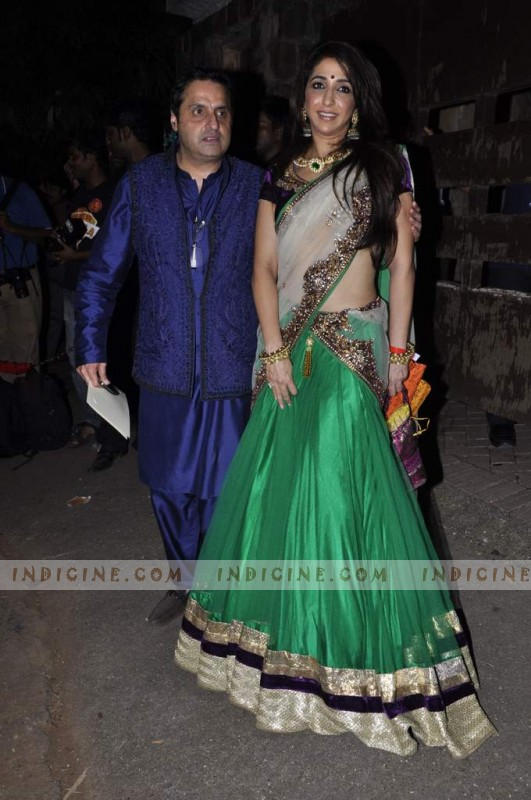 Sunil Lulla with wife Krishika Lulla