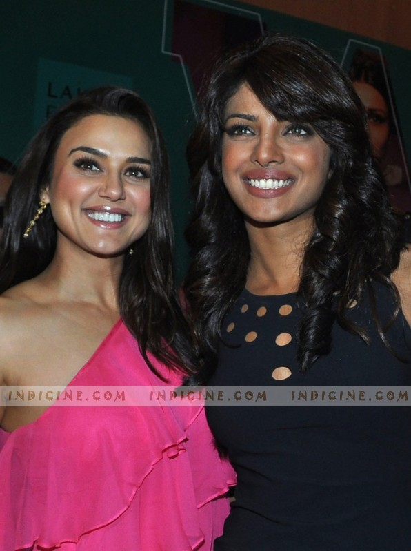Preity Zinta, Priyanka Chopra at LFW