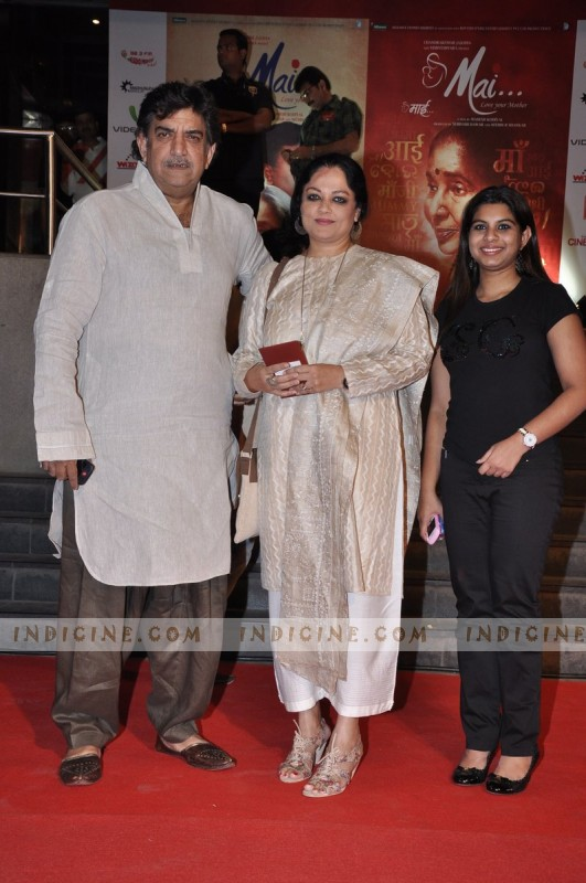 Baba Azmi with wife Tanvi Azmi