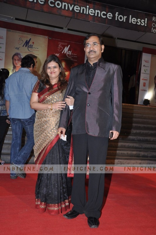 Sudesh Bhosle and his wife Hema