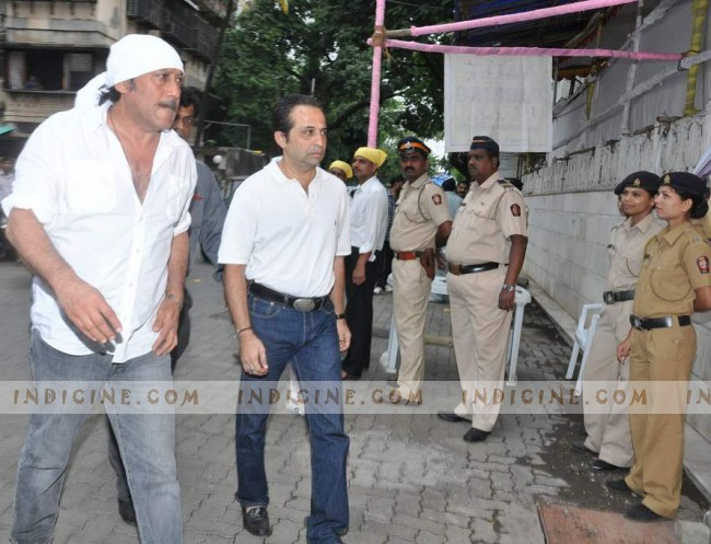 Jackie Shroff at Pran's prayer meet