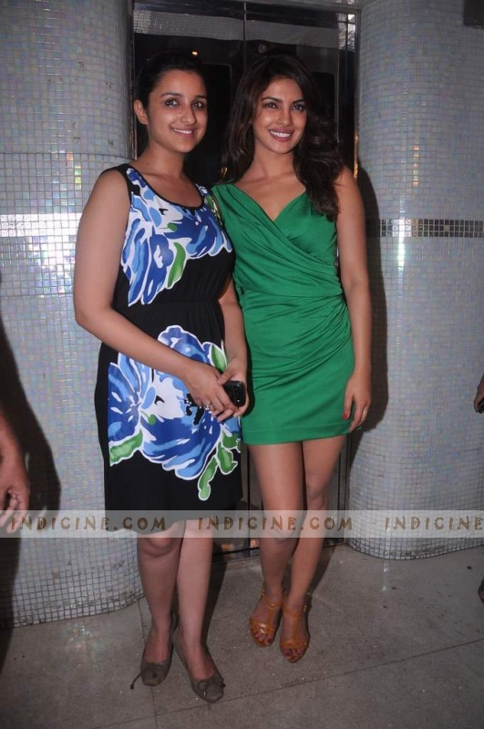 Priyanka Chopra with Cousin Parineeti Chopra at Ishaqzaade success party