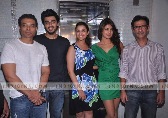 Uday Chopra, Arjun Kapoor, Parineeti Chopra, Priyanka Chopra, Habib Faisal at Ishaqzaade success bash