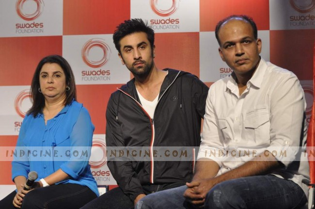 Farah, Ranbir and Ashutosh at Swades Foundation launch