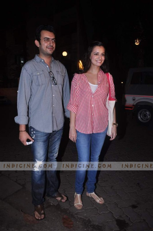 Sahil Sangha, Diya Mirza at Gangs of Wasseypur screening