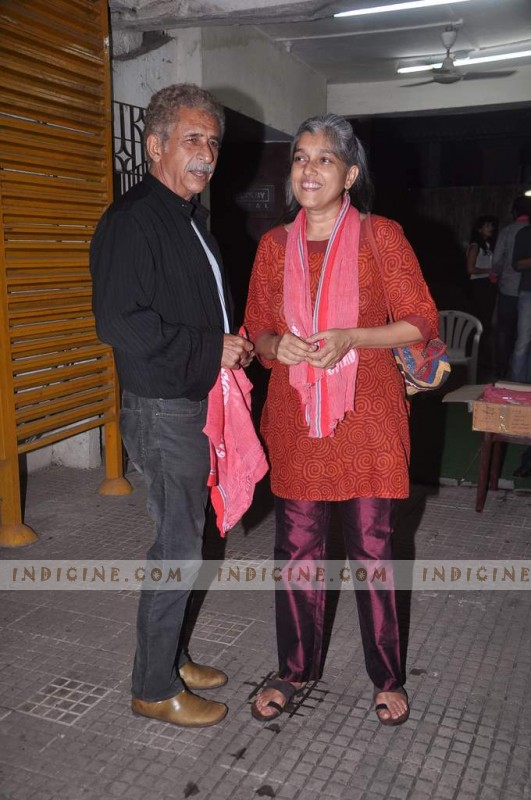 Naseeruddin Shah With his Wife Ratna Pathak Shah at Gangs of Wasseypur screening