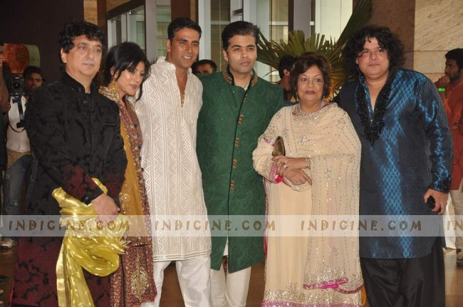 Akshay, Karan, Sajid at Ritesh Deshmukh and Genelia's Wedding