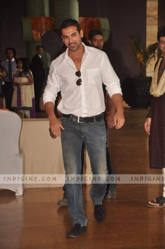 John Abraham at Ritesh and Genelia's wedding