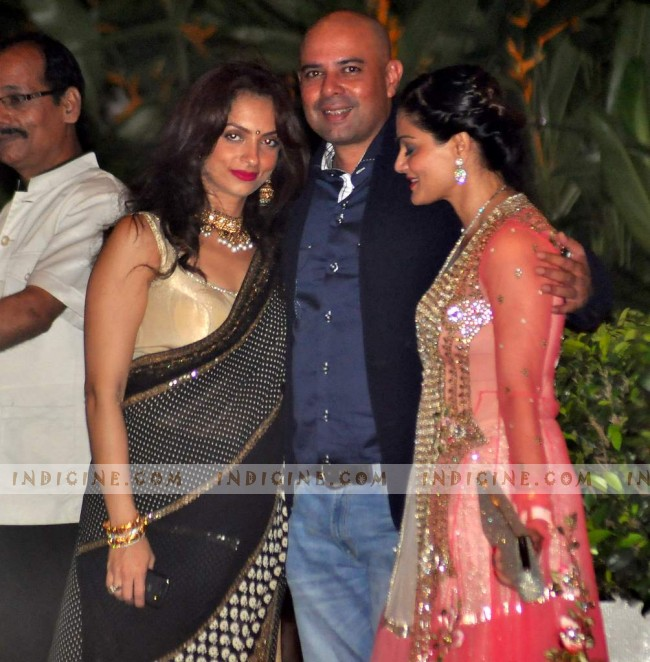 Seema Khan and Atul Agnihotri with wife Alvira Agnihotri