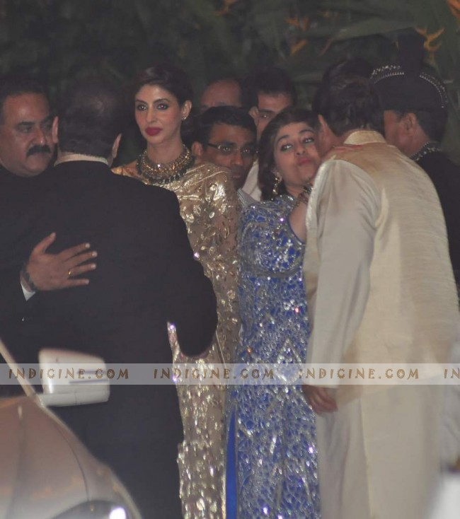 Shweta Nanda at Saif, Kareena's wedding reception