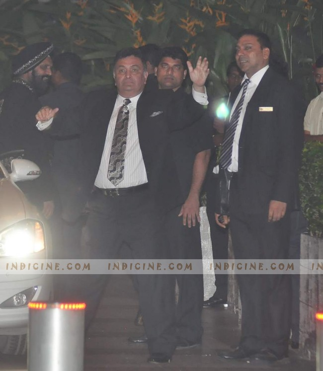 Rishi Kapoor at Saif, Kareena's wedding reception